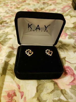 KAY rose gold earrings for Sale in Salt Lake City, UT