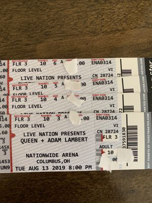 Queen and Adam Lambert Tickets For Sale for Sale in Columbus, OH