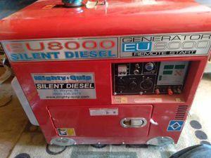 Mighty quip eu 8000 silent diesel generator for Sale in Wenatchee, WA
