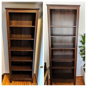 2 IKEA Brusali bookcases, dark brown for Sale in San Francisco, CA