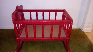 Red Wooden Play Crib for Sale in Ossian, IN