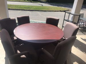 Conference table 60 inch with six chairs $175 for Sale in Wolcott, CT