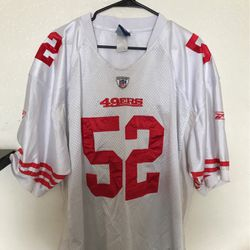 Patrick Willis San Francisco 49ers number 52 authentic NFL on field Reebok jersey size 54/extra large NFL football jersey for Sale in Bakersfield,  CA
