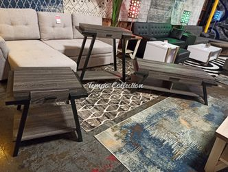 Stylish 3 PC Console, End and Coffee Table Set, Distressed Grey, SKU# ID182338SET for Sale in Santa Fe Springs,  CA