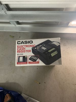 Casio electronic cash register for Sale in St. Petersburg, FL