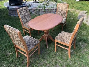 Price reduced! Table and 4 chairs for RV Camper for Sale in Spokane, WA