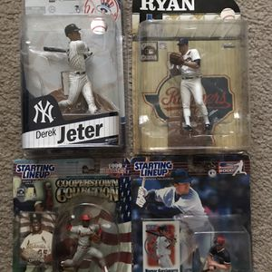 MLB Figures Lot Jeter, Ryan , Gibson, Nomar for Sale in Lowell, MA
