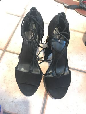 Black Micheal kors lace up fringe heels for Sale in Albuquerque, NM