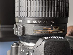 Nikon d60 with 55-200mm Lens for Sale in Clio, MI