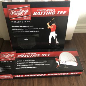 Rawlings Youth Model Batting Tee And all-Purpose Net Brand New In Box for Sale in Scottsdale, AZ