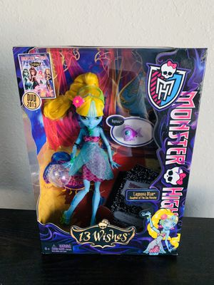 Monster High 13 Wishes Lagoona Blue Doll New for Sale in Dallas, TX