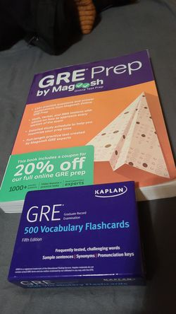 GRE Test Prep Kit - 1 Magoosh Hard Cover book + Kaplan 500 vocabulary flashcards for Sale in Austin,  TX