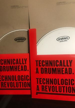 EVANS DRUMHEADS, NEW, BOTH FOR $20 for Sale in Wichita, KS