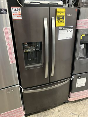 Whirlpool French door in black stainless new open box for Sale in Riverside, CA