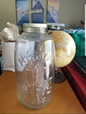 Extra Large Mason Brand Pickle Jar, metal lid and handle for Sale in Hanover, MD