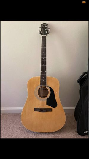 Silvertone Dreadnought Acoustic Guitar w/ Gig Bag and Capo - $80 OBO for Sale in Binghamton, NY