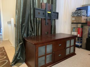 Wood TV Stand Console with Mount for Sale in Virginia Beach, VA