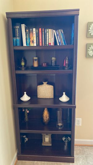 "Nice a practical Mahogany book shelves. Dimension: 71""/ 29.5""/ 12"" for Sale in Aldie, VA"