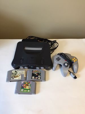 Nintendo 64 system with games super Mario n64 for Sale in Sycamore, IL