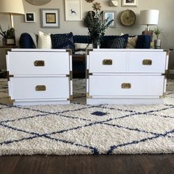 Vintage Campaign Style Nightstands (2) for Sale in San Diego,  CA