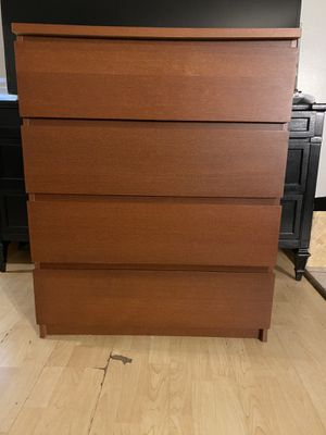 IKEA MALM 4-drawer chest, brown stained ash veneer for Sale in Inglewood, CA
