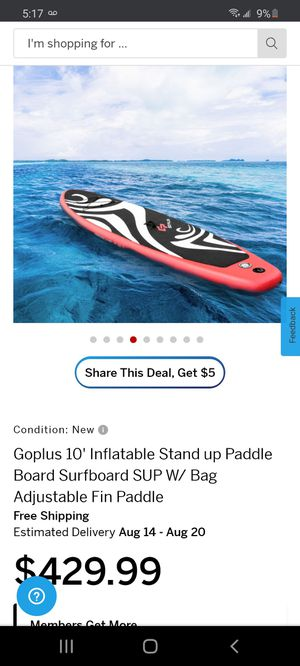 Inflatable Stand up Paddle Board for Sale in GLMN HOT SPGS, CA