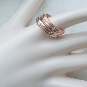 (2) 14k rose gold over sterling silver rings for Sale in Pompano Beach, FL