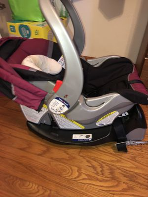 Infant car seat with base for Sale in Virginia Beach, VA