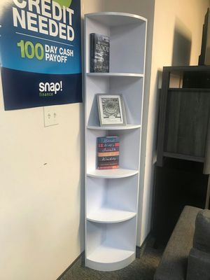 Chole White Color Corner Bookcase for Sale in Garden Grove, CA