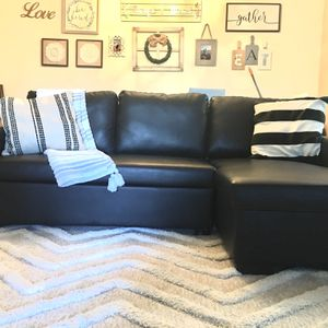 2 Piece Sectional Couch Sofa With Storage And Pull Out Sleeper for Sale in San Diego, CA