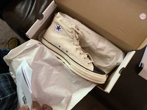 Fear of God X Converse Essentials Ivory size 13 for Sale in Detroit, MI