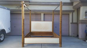 Four Poster Canopy Bamboo & Microfiber Cal King Bed Frame for Sale in Patterson, CA