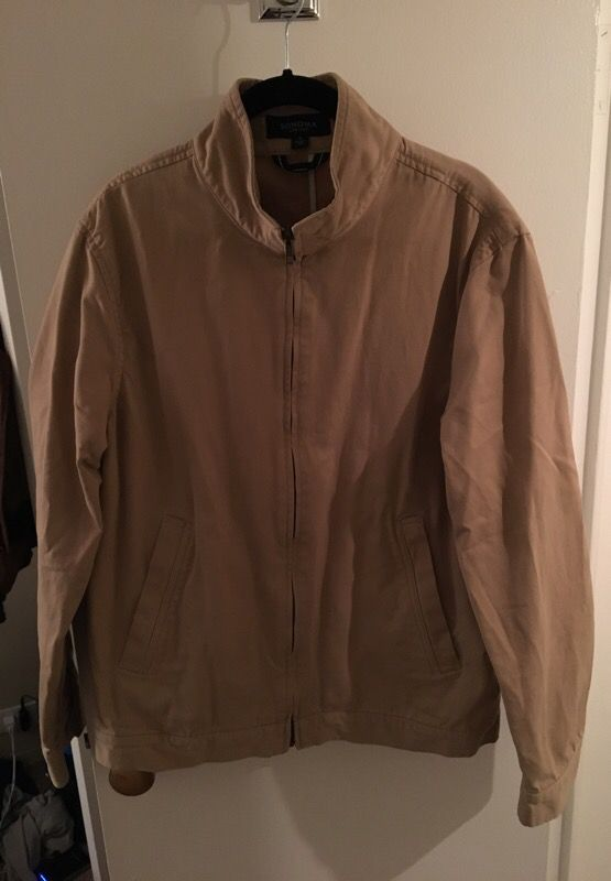 Beige casual jacket coat medium