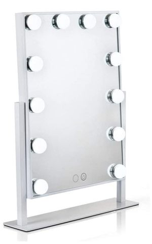 Lighted Vanity Mirror with 12 x 3W Dimmable LED Bulbs and Touch Control Design, Hollywood Style Makeup Cosmetic Mirrors with Lights, White for Sale in Doral, FL