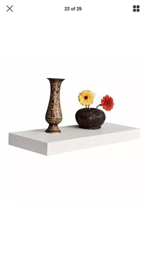 """2 white floating shelves 16""""long x 9.25"""" deep x 2"""" thick for Sale in Las Vegas, NV"""