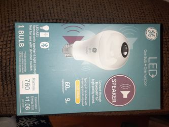 GE smart bulb and bluetooth speaker in one! for Sale in Vancouver,  WA