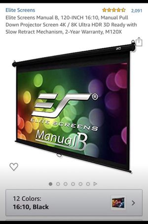 Elite screens pull-down projector screen for Sale in Vacaville, CA