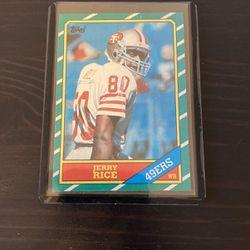 Topps 1986 Jerry Rice Rookie Card for Sale in Oakley,  CA