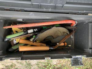 Tool Box Full Of Gardening/Yard Tools for Sale in Davenport, FL