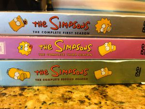 The Simpsons Dvd Season 1 2 3 for Sale in Rancho Cucamonga, CA