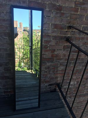FULL LENGTH WALL MIRROR WITH BLACK TRIM for Sale in Boston, MA