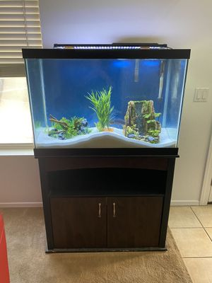 65 gallon fish tank and stand for Sale in Glendale, AZ