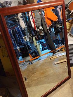 45inX33in Hardwood Vanity Mirror for Sale in Greenport,  NY