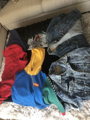 Jacket/hoodie/button up/Christmas sweater/1dress pants for Sale in Shaker Heights, OH