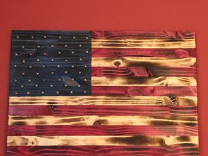 "Handmade Wooden American Flags 16""x24"" for Sale in Lilburn, GA"