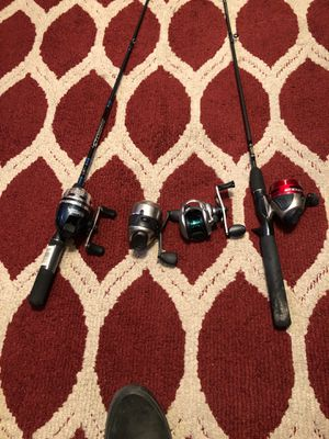 fishing reels with rods for Sale in Riverside, CA