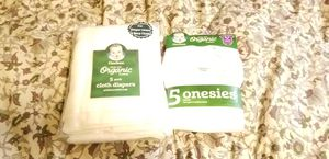 Organic gerber cloth inserts/ onsies for Sale in Des Moines, WA