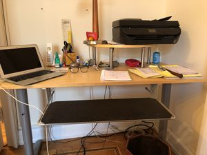 IKEA desk with keyboard drawer and stand for printer (or whatever) for Sale in New York, NY
