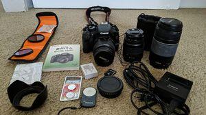 Canon DSLR t2i with 3 lenses for Sale in Phoenix, AZ