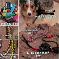 Handmade Paracord Dog Leash for Sale in North Fork,  CA